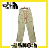【The North Face 女 快乾兩截褲《灰棕》】CFT9/長褲/短褲/休閒/戶外