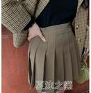百褶裙女 馨幫幫 新款時尚百折短款顯瘦高腰a字半身裙百褶裙女 快速出貨