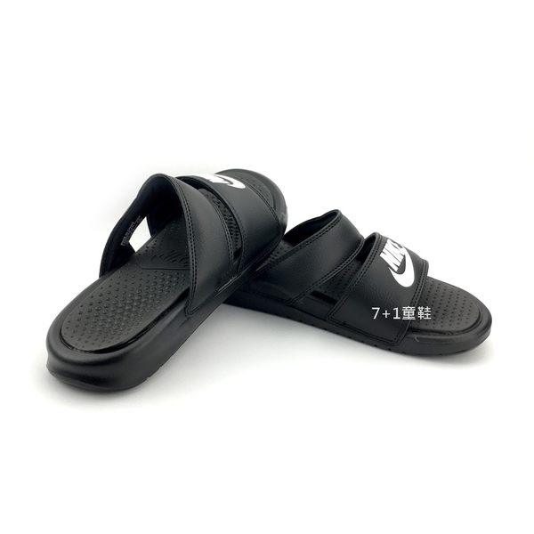 NIKE BENASSI DUO ULTRA SLIDE  防水輕量運動拖鞋《7+1童鞋》E892 黑色