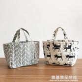 飯盒袋手提袋便當袋小帶飯包保溫袋圓形大號手提飯盒包便當包防水