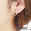 現貨 耳環 韓國 氣質 甜美 百搭 花朵 流線 水鑽耳環 S91839  Danica 韓系飾品 韓國連線
