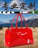 皮質旅行袋 pu防水漆皮包男女休閒包單肩包瑜伽包運動健身包 多色