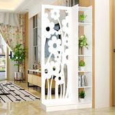 屏風隔斷客廳玄關櫃隔斷櫃歐式田園現代移動門廳裝飾櫃鏤空雕花 週年慶降價
