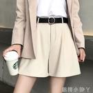 西裝短褲女夏季薄款高腰寬鬆顯瘦休閒工裝外穿a字闊腿2021年新款 蘿莉館品