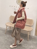秋冬季新款韓版短款羽絨棉服寬松無袖棉馬甲女士背心馬夾外套
