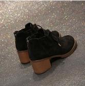 秋冬新款马丁靴女英伦风学生韩版粗跟高跟短靴
