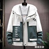 男士休閒外套春秋季2020新款韓版潮流工裝夾克寬鬆百搭上衣服『潮流世家』