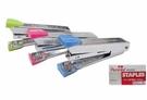 筆樂-KC7488格紋釘書機+釘書針組 12個/盒