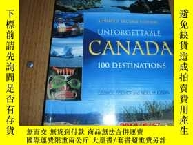 二手書博民逛書店UNFORETTABLE罕見CANADA 100 DESTINA