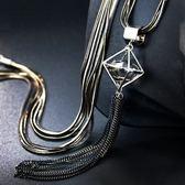 奧地利水晶項鍊-幾何切面生日情人節禮物女毛衣鍊73fv141[時尚巴黎]