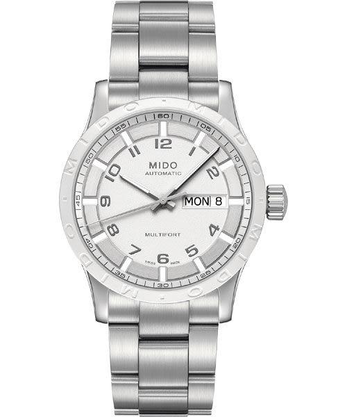 MIDO 美度 Multifort 先鋒系列時尚機械手錶-白x銀 M0188301101200