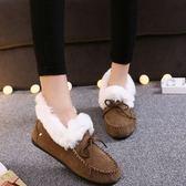 低筒雪靴-時尚保暖舒適休閒女平底靴子4色73kg82[巴黎精品]