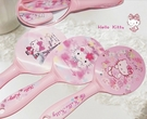 【HelloKitty】新款可愛手柄鏡子粉色手拿化妝鏡便攜美容補妝鏡公主鏡(隨機出貨)