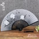絲藝堂禮品女式折扇夏季日式櫻花扇子古風絹...