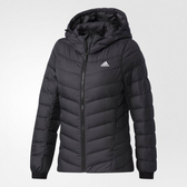Adidas W CW NUVIC JKT [BQ8778] 女款 休閒 短版 合身 輕量 保暖 羽絨 外套 愛迪達 黑