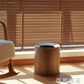 客廳雙層日式仿木紋垃圾桶簡約家用大號酒店臥室壓圈創意收納筒 中秋節全館免運