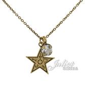 茱麗葉精品【全新現貨】Christian Dior CD LOGO星星水鑽造型長鍊.金