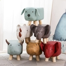 小凳子 兒童動物換鞋墩子時尚創意大象小凳子家用腳凳卡通矮凳實木沙發凳