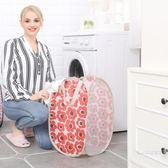 臟洋裝收納筐簡約臥室家用小清新床邊放臟衣袋洗衣欄臟字籃摺疊  雙11購物節
