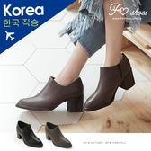 靴.大V剪裁高跟踝靴-FM時尚美鞋-韓國精選.MICRO