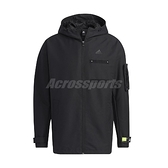 adidas 外套 TH JKT WV CSTM 黑 綠 男款 連帽外套 風衣外套 訓練 運動休閒 【ACS】 GP0982