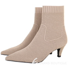 ASH Carlie 低跟針織襪套短靴(駝色) 1940633-02