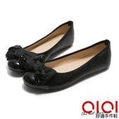 娃娃鞋 MIT織帶蝴蝶拼接豆豆娃娃鞋(黑)*0101shoes【18-622bk】【現貨】