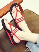 波西米亞涼鞋女仙女風夏季平底海邊沙灘鞋度假羅馬鞋百搭    蜜拉貝爾