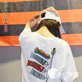日系原宿BF風潮牌個性印花T恤女短袖韓版寬松學生情侶半袖上衣夏-奇幻樂園