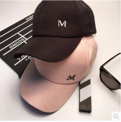 韓版鴨舌帽女遮陽帽超萌蝴蝶結棒球帽嘻哈帽M標帽