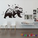 壁貼【橘果設計】黑熊 DIY組合壁貼 牆...
