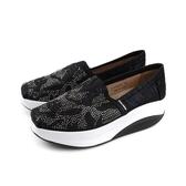 HUMAN PEACE 懶人鞋 厚底 增高 水鑽 黑色 女鞋 S41801-01 no013