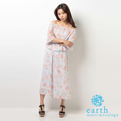 ❖ Hot item ❖ 花柄雪紡兩件式上衣+褲裙 - earth music&ecology