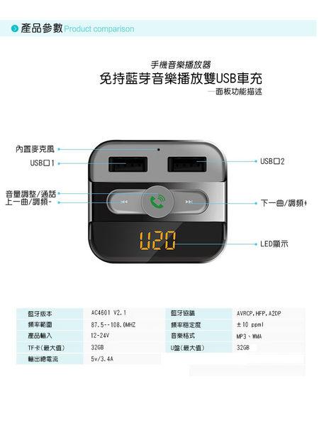 【全館折扣】 藍芽 FM 發射器 双 USB 車充 HANLIN BT20 無線 音源轉換器 車用MP3 可插 隨身碟 TF