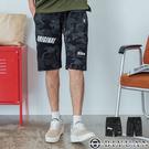 韓國製【OBIYUAN】休閒短褲 彈性 迷彩 印花 工作短褲 共1色【BSD121】