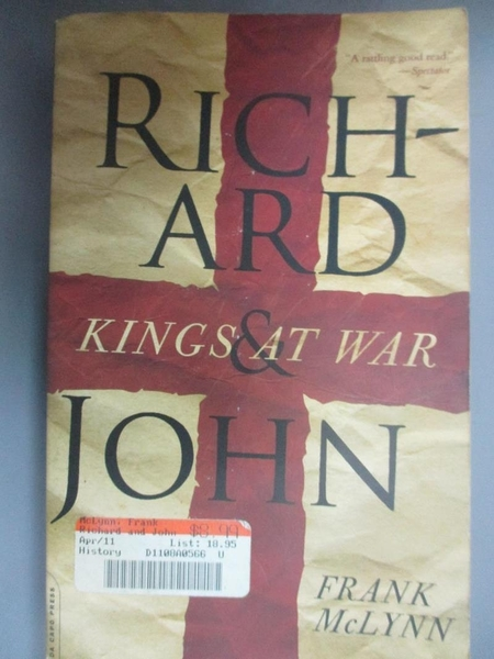【書寶二手書T3/原文書_EJI】Richard and John: Kings at War_McLynn, Frank