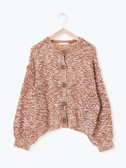 「Hot item」彩色混紡開襟針織罩衫 (提醒 SM2僅單一尺寸) - Sm2