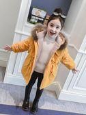 女童棉衣冬裝2019洋氣外套兒童女孩加絨加厚童裝羽絨棉服冬季