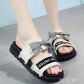 夏季韓版平底涼拖鞋女童時尚外穿夾腳防滑人字拖鞋歲 町目家