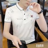 polo衫短袖T恤男休閒韓版潮流夏季襯衫領體恤2020新款帥氣個性男 LR19025【原創風館】