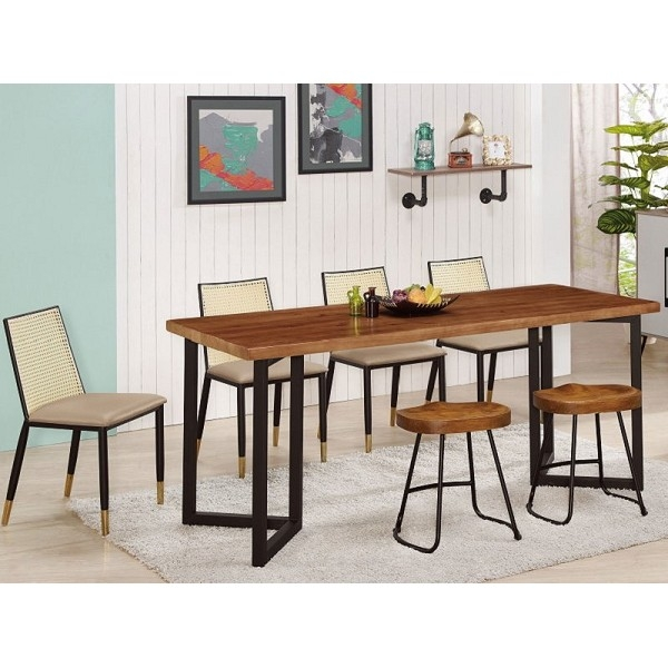 餐桌 QW-675-5 富潤6尺實木餐桌 (不含椅子) 【大眾家居舘】