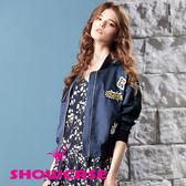 【SHOWCASE】個性圖標飛行員短版外套(藍)