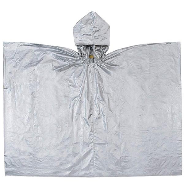 耀您館 日本COGIT兩用保暖鋁箔毯帶帽380501防潑水便攜鋁箔毯熱反射毯野外求生毯Aluminum foil blanket