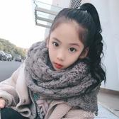 秋冬兒童長圍巾韓版學生馬海毛圍脖親子大童保暖針織毛線圍巾加大 暖心生活館