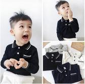 中小童春秋新款2刺繡純棉長袖POLO衫3男童T恤4寶寶上衣5歲潮