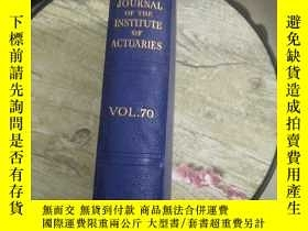 二手書博民逛書店JOURNAL罕見OF THE INSTITUTE OF ACTUARIESY5803