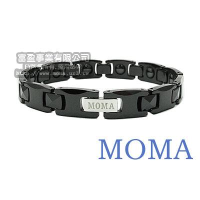 【MOMA】陶瓷鍺磁手鍊極致黑寬版-M31MPY