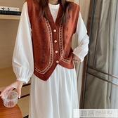 針織馬甲女寬鬆外穿背心2020新款秋冬季韓版無袖馬夾外套網紅開衫 母親節特惠