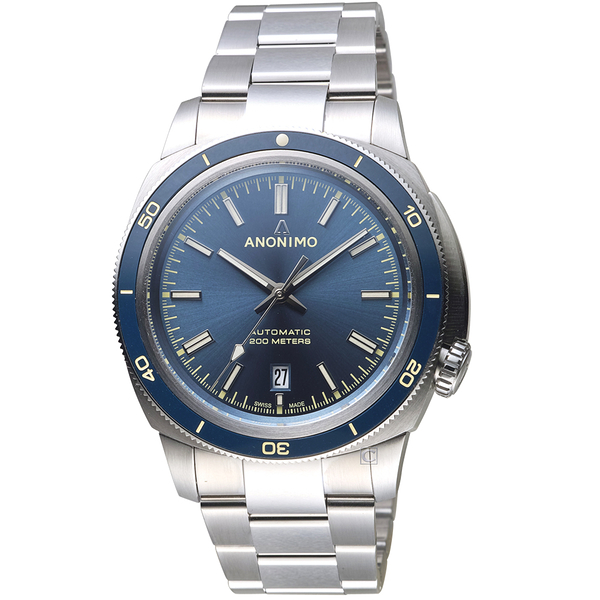 Anonimo NAUTILO VANTAGE義大利海軍機械錶-浩瀚藍   AM501906103M01
