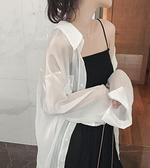 防曬衣女夏季超仙女冰絲雪紡襯衫長袖空調衫透氣開衫薄外套防曬衫 【端午節特惠】